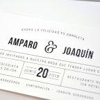 Invitación de boda sobre con banda, Cardnovel 39330 texto