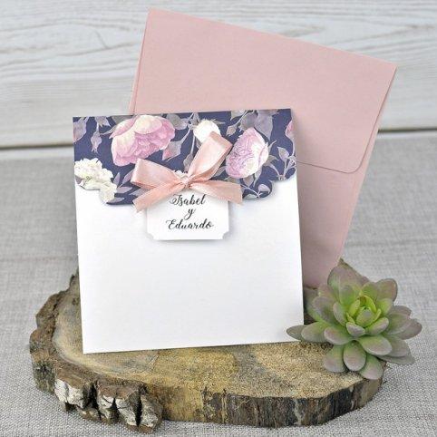 Triptic Wedding Invitation, Cardnovel 39336