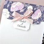 Invitación de boda sobre en tríptico, Cardnovel 39336 abierta