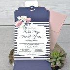 Invitación de boda sobre en tríptico, Cardnovel 39336