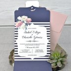 Triptic Wedding Invitation, Cardnovel 39336