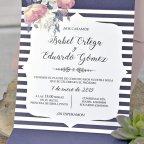 Invitación de boda sobre en tríptico, Cardnovel 39336 texto