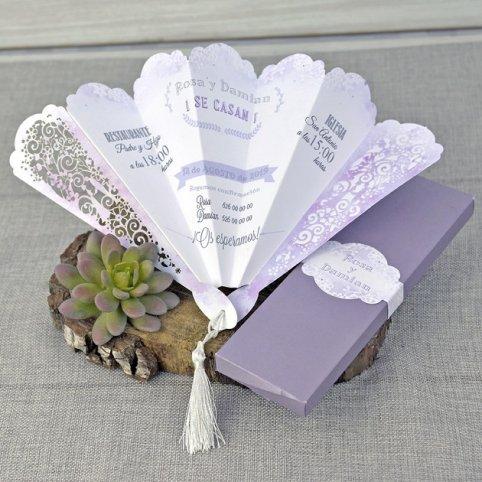 Fan Wedding Invitation, Cardnovel 39332