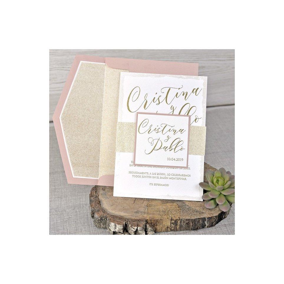 Glitter Wedding Invitation, Cardnovel 39342