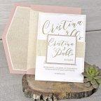 Invitación de boda glitter, Cardnovel 39342