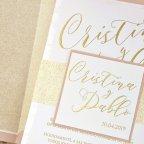 Invitación de boda glitter, Cardnovel 39342 detalle