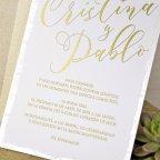 Invitación de boda glitter, Cardnovel 39342 texto