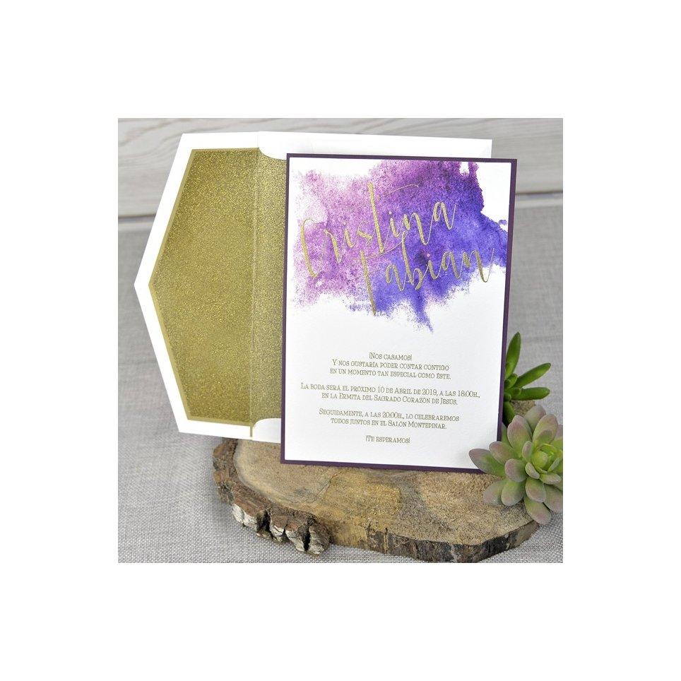 Gold Glitter Hochzeitseinladung, Cardnovel 39323
