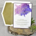Gold Glitter Wedding Invitation, Cardnovel 39323