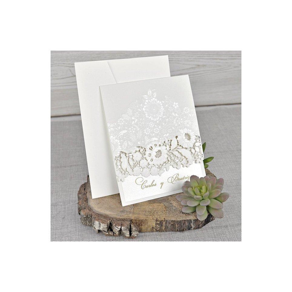 Laser Rosen Hochzeitseinladung, Cardnovel 39321