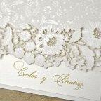 Invitación de boda rosas en láser, Cardnovel 39321 nombres