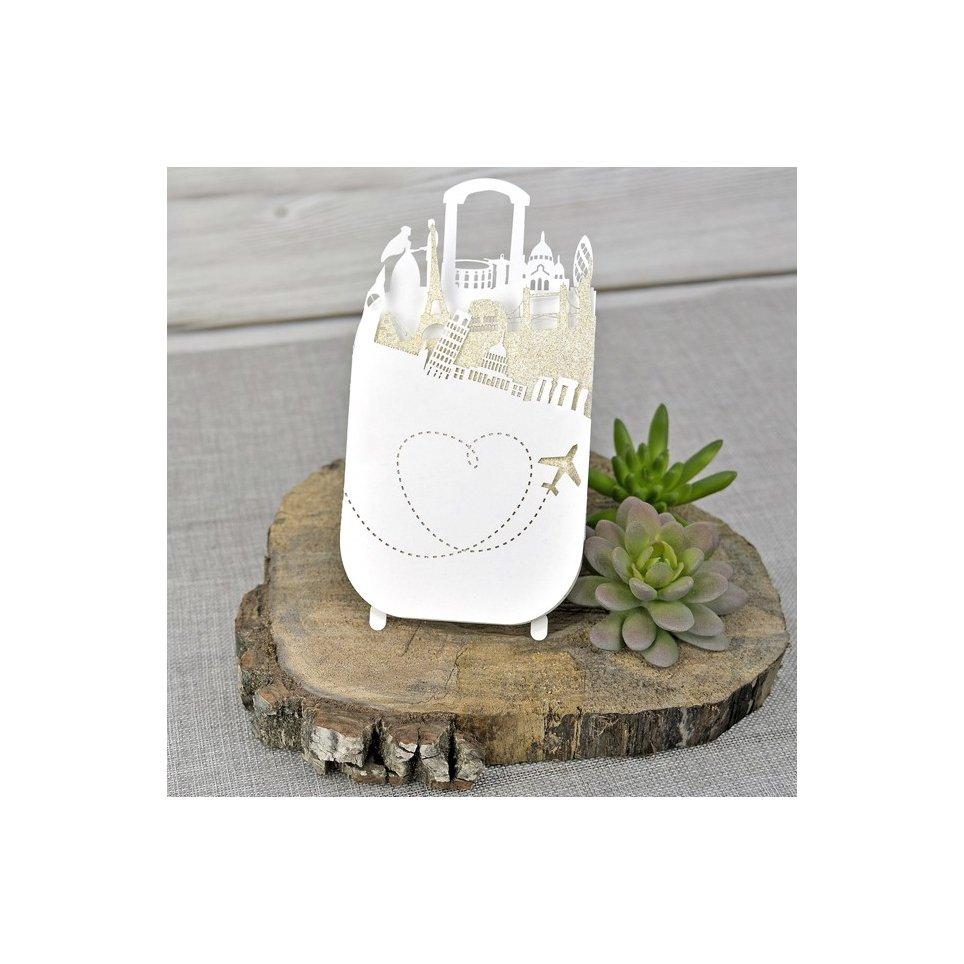 Invitación de boda ¡Preparen las maletas!, Cardnovel 39334