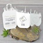 Wedding Invitation Prepare your bags!, open Cardnovel 39334