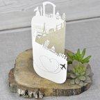 Hochzeitseinladung Packen Sie Ihre Koffer !, Cardnovel 39334 Triptychon
