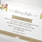 Invitación de boda novios asomados, Cardnovel 39322 texto