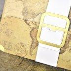 Cartella con mappa del mondo per invito a nozze, dettaglio Cardnovel 39329