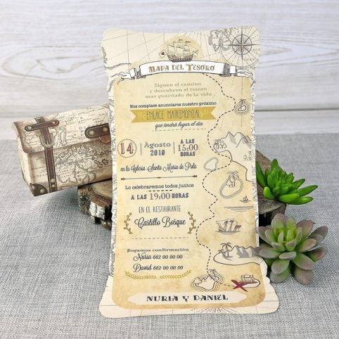 Treasure Map Wedding Invitation, Cardnovel 39308