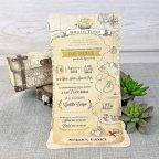 Invitación de boda mapa del tesoro, Cardnovel 39308