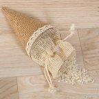 Cono-bolsa de yute 15 cm