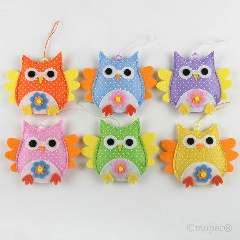 Owl pendant decoration colors