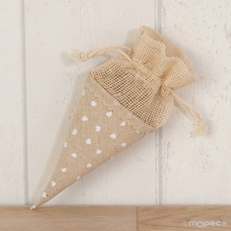Cone-bag with 15cm hearts