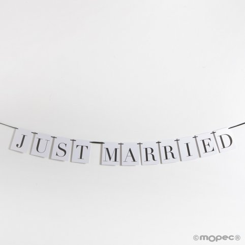 Gerade verheiratete Girlande 10,5x14 cm