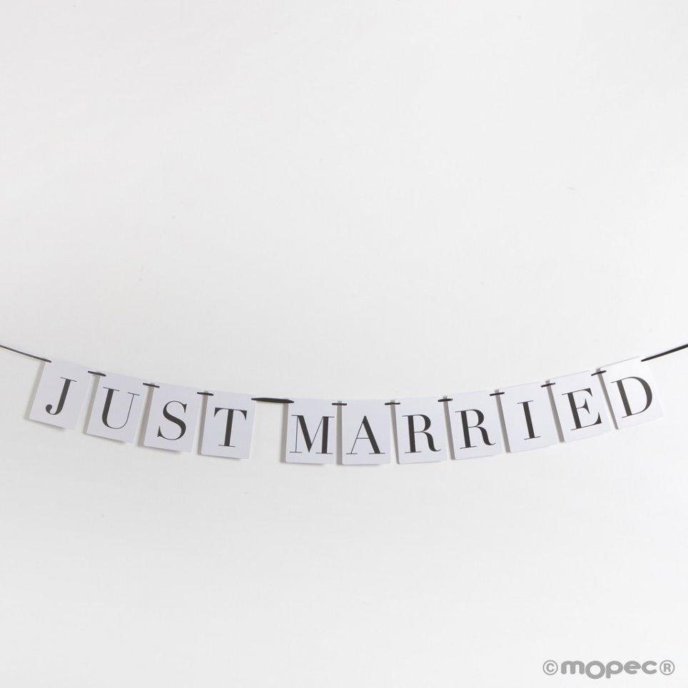 Ghirlanda appena sposata 10,5x14 cm