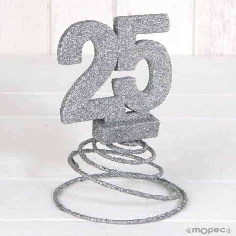 Decorazione 25 ° anniversario di matrimonio 10x15cm