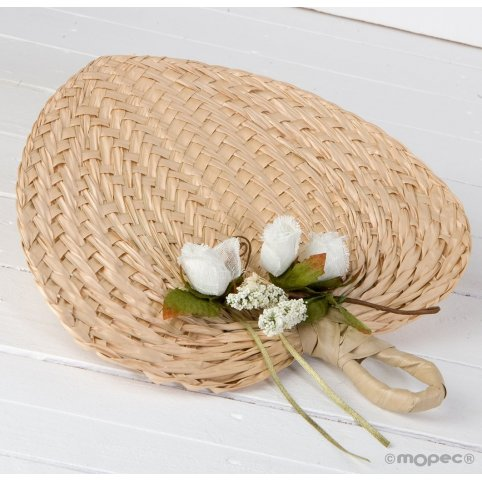 Paipay palm leaf adorned with card holder 29x30cm