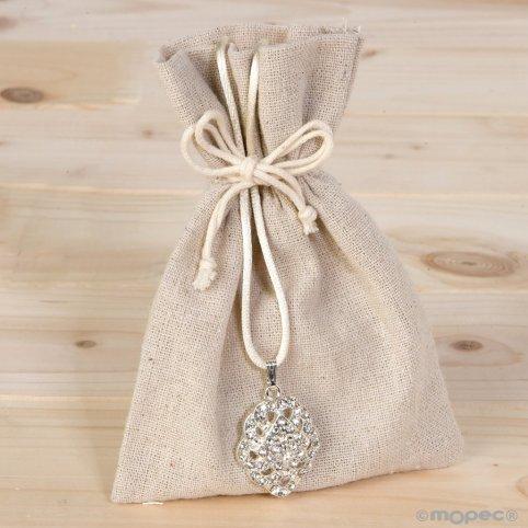 Strass pendant with bag bag and 3 chocolates
