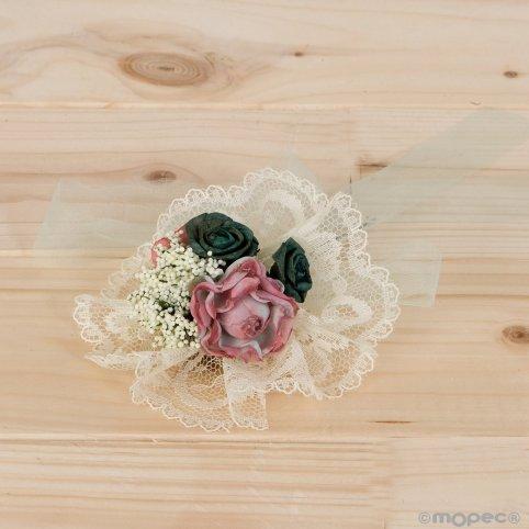 Floral bouquet compatible with jar