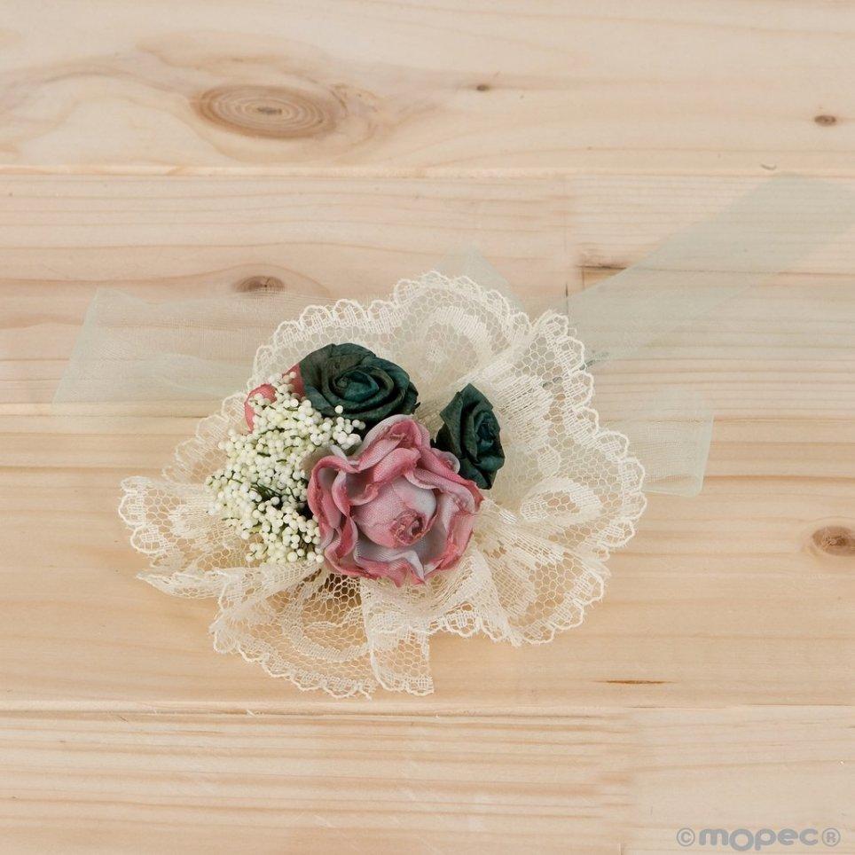 Bouquet floral compatible con tarro