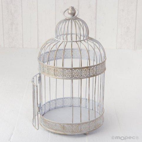 White metal cage 18 x 37cm
