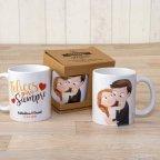 Taza cerámica novios Pop & Fun caricia con caja regalo