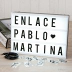 Retro-light sign 90 combinable letters