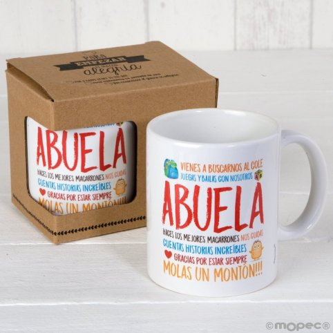 Taza cerámica Abuela en caja regalo