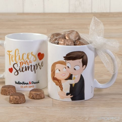 Pop&Fun Groom Mug Caress Chocolates and Gift Box