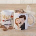 Tazza Sweetheart Pop & Fun carezza cioccolatini e confezione regalo
