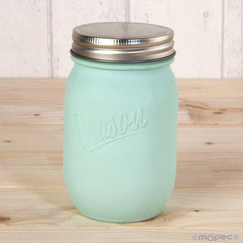 Matte green jar with 7x13 cm screw cap