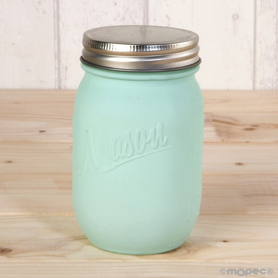 Matte green jar with 7x13 cm screw cap