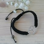 Pulsera símbolo paz regulable