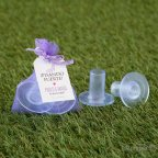 Round heel protector with lilac bag