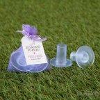 Runder Fersenschutz mit lila Tasche
