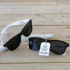 Gafas de sol negras patilla blanca