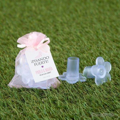 Protector tacones FLOR bolsa rosa