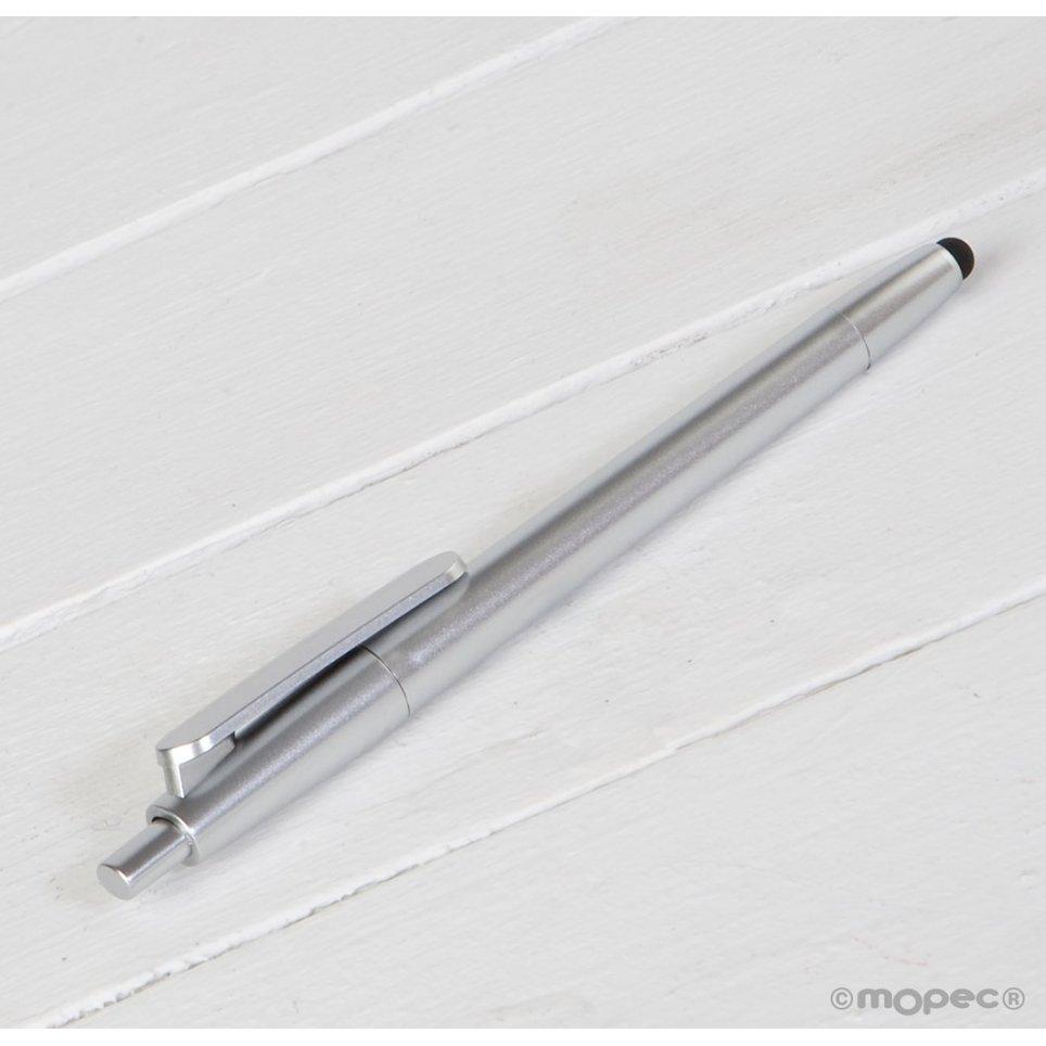 Matt silberner Stift mit Berührungszeiger