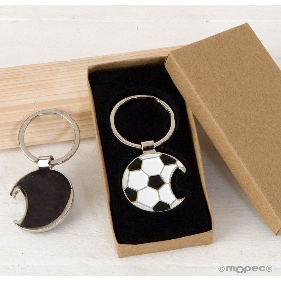 Llavero abridor pelota fútbol con caja regalo