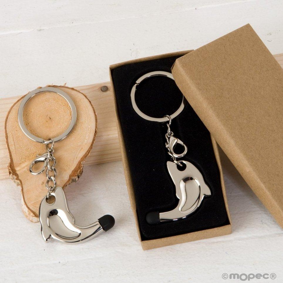 Confezione regalo portachiavi / ciondolo delfino touch pointer