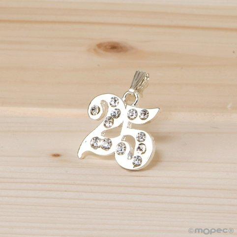 25-year strass pendant