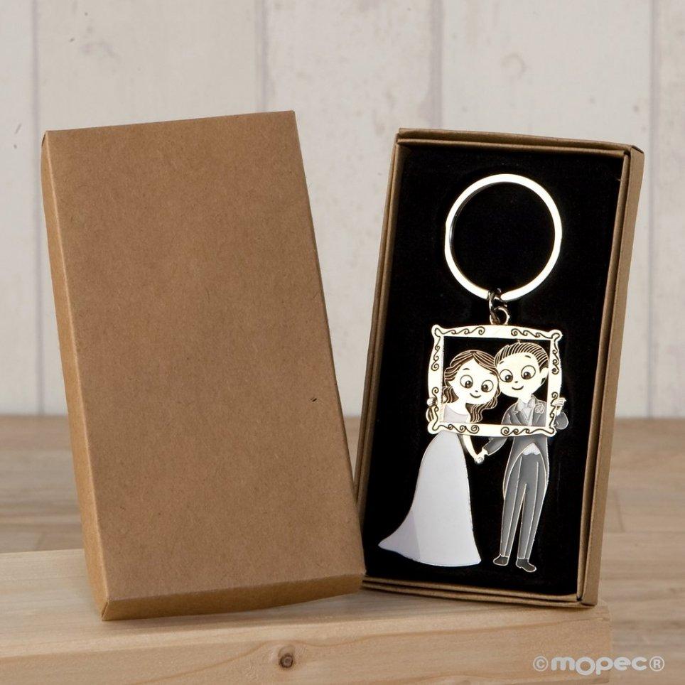 Portachiavi coppia pop & fun photocall in confezione regalo